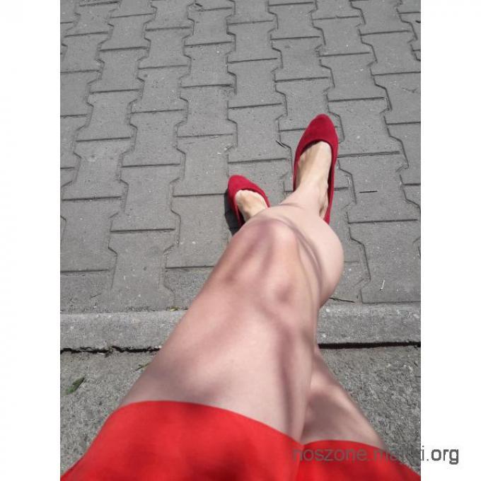 Śliczne słodkie noszone balerinki baleriny czerwone rozmiar 38