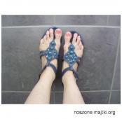 Piękne znoszone sandałki... długo noszone