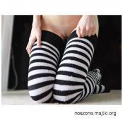 $$$ Seksowne Zakolanóweczki w Czarno-Białe Paseczki!!!