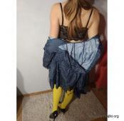 Mega sexowne i niepowtarzalne żółte rajstopki.....